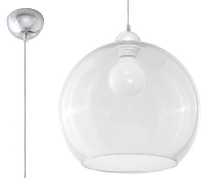 SOLLUX LIGHTING  Lampa Wisząca BALL Transparentny Sollux