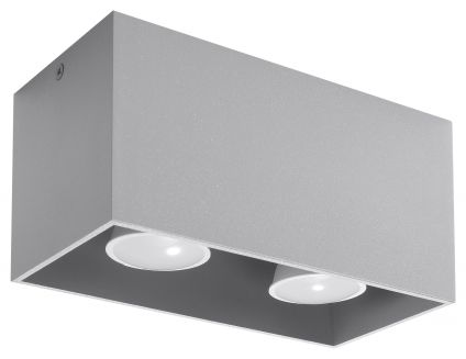 SOLLUX LIGHTING  Plafon QUAD MAXI Szary Sollux